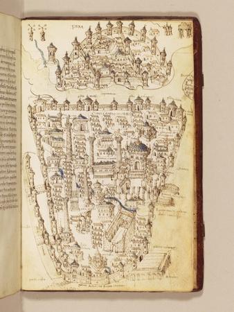 Map of Constantinople, Illustration from the 'Liber Insularum Archipelagi'-Cristoforo Buondelmonti-Giclee Print