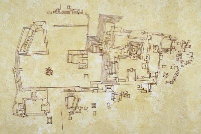Map of Copan Site, Mayan Civilization--Giclee Print