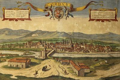 Map of Cordoba from Civitates Orbis Terrarum--Giclee Print