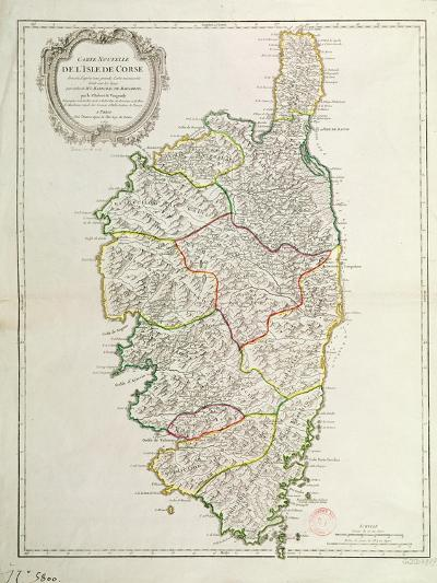 Map of Corsica--Giclee Print