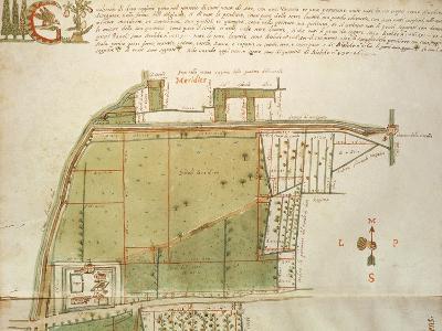 Map of Country Estates in the Town of Castelnuovo Di Sotto, Reggio Emilia--Giclee Print