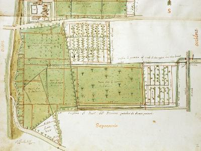 Map of Country Estates of the Court of the Gualtirolo, Commune of Campegine in Castelnuovo Di Sotto--Giclee Print