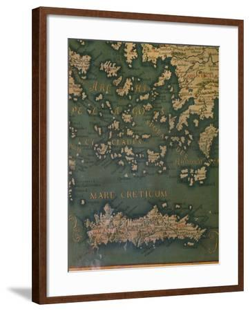 Map of Crete and the Cyclades-Giustino Menescardi-Framed Giclee Print