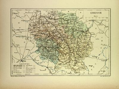 Map of Creuse France--Giclee Print