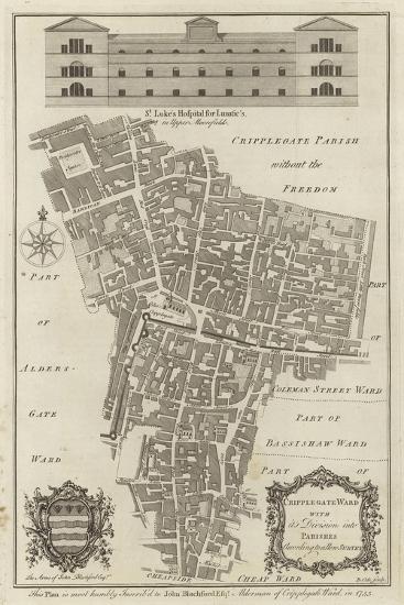 Map of Cripplegate Ward, London--Giclee Print