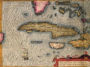 Map of Cuba and Jamaica, from Theatrum Orbis Terrarum by Abraham Orteliused in Antwerp, 1570