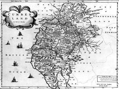 Map of Cumberland, C.1695-Robert Morden-Giclee Print