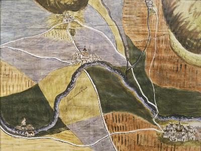 Map of Domremy-La-Pucelle Area in France, Birthplace of Joan of Arc--Giclee Print