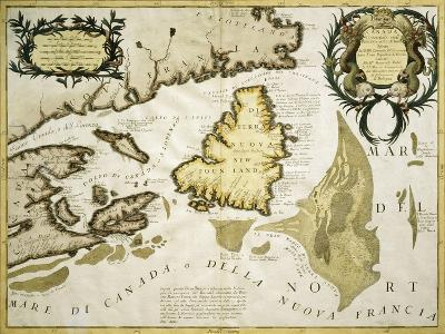 Map of Eastern Canada and Newfoundland, 1692--Giclee Print