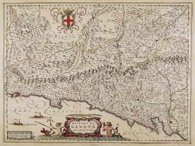 Map of Eastern Liguria Region-Giovanni Antonio Magini-Giclee Print