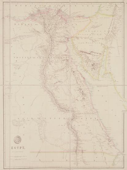 Map of Egypt, 1832-John Arrowsmith-Giclee Print
