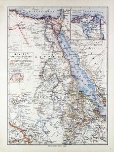 Map of Egypt Sudan 1899