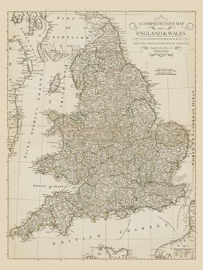Map Of England Vintage.Map Of England And Wales 1790 Giclee Print By The Vintage