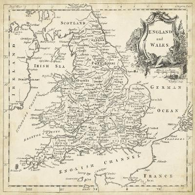 Map of England and Wales-T^ Jeffreys-Art Print