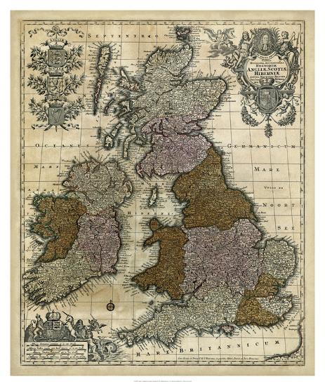 Map of England, Scotland & Ireland-Unknown-Giclee Print