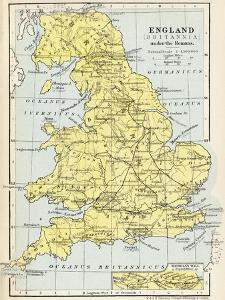 Map of England under the Romans