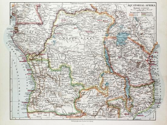 Map of Equatorial Africa the Republic of Mozambique the Republic of ...