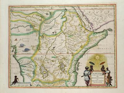 "Map of Ethiopia Showing Five African States, c.1690 G. Blaeu's ""Grooten Atlas"" of 1648-65--Giclee Print"