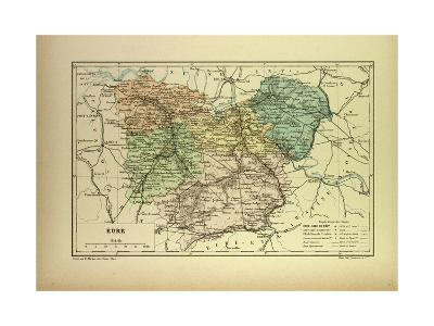 Map of Eure France--Giclee Print