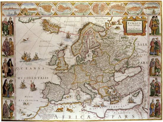 Map Of Europe Giclee Print By Artcom - Pars map