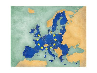 Map of Europe - European Union (Summer Style)-Tindo-Art Print