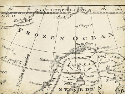 Map of Europe Grid II-T^ Jeffreys-Art Print