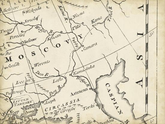 Map of Europe Grid VI Art Print by T  Jeffreys | Art com