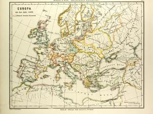 Map of Europe in 1400