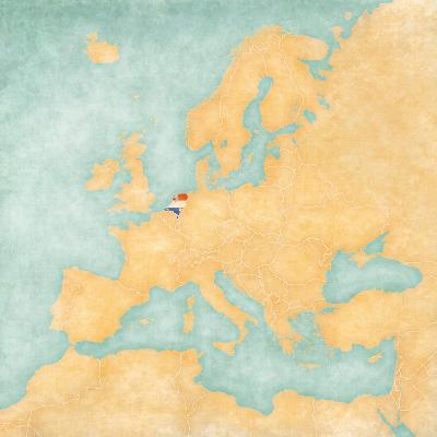 Map of Europe - Netherlands (Vintage Series)-Tindo-Art Print