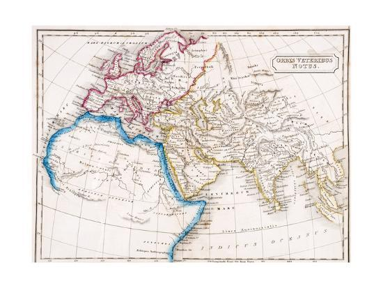 Map of Europe Northern Africa and Western Asia, Orbis Veteribus ...