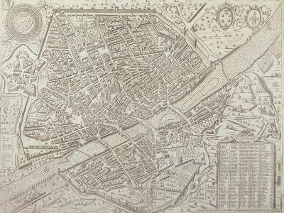 Map of Florence, 1595-Matteo Florimi-Giclee Print