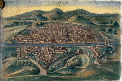 Map of Florence, 15th Century--Giclee Print