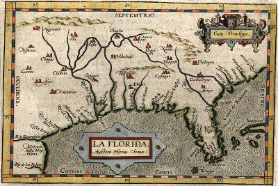 Map of Florida, C.1584-Abraham Ortelius-Giclee Print