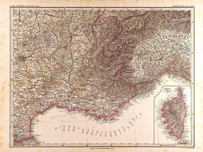 Map of France, 1874--Giclee Print