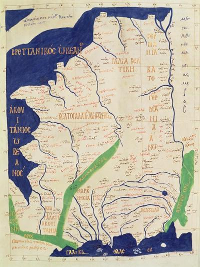 Map of France, from Geographia-Ptolemy-Giclee Print