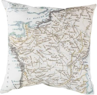 Map of France Pillow