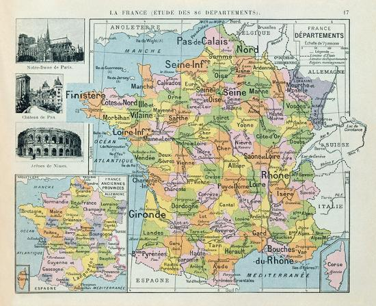 Map Of France To Print.Map Of France Giclee Print By The Vintage Collection Art Com