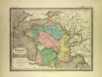 Map of France--Giclee Print