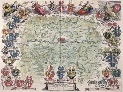 Map of Frankfurt and the Surrounding Area, from Nova Hanc Territori Francofurtensis Tabulum, 1649-Joan Blaeu-Giclee Print