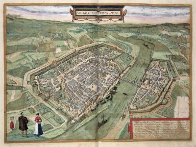Map of Frankfurt, from Civitates Orbis Terrarum by Georg Braun-Joris Hoefnagel-Giclee Print