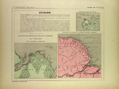 Map of French Guiana--Giclee Print