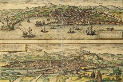 Map of Genoa and Florence from Civitates Orbis Terrarum--Giclee Print
