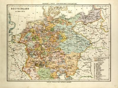 Map of Germany in 1378--Giclee Print