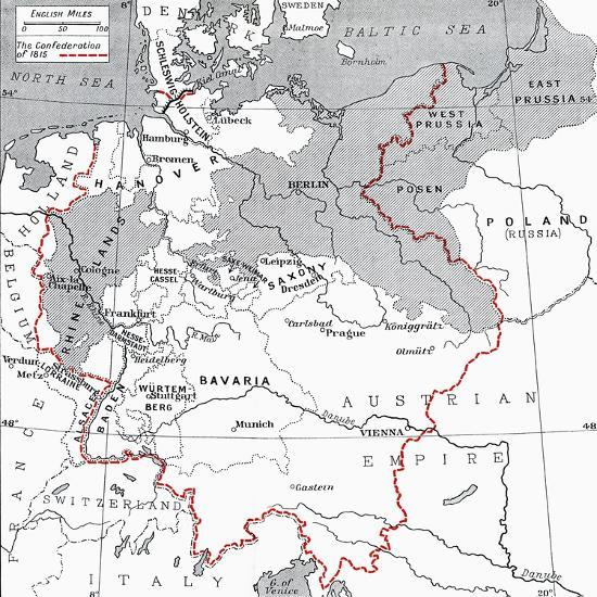 Map Of Germany To Print.Map Of Germany In 1815 Giclee Print By Art Com