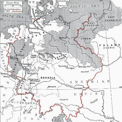 Map of Germany in 1815--Giclee Print