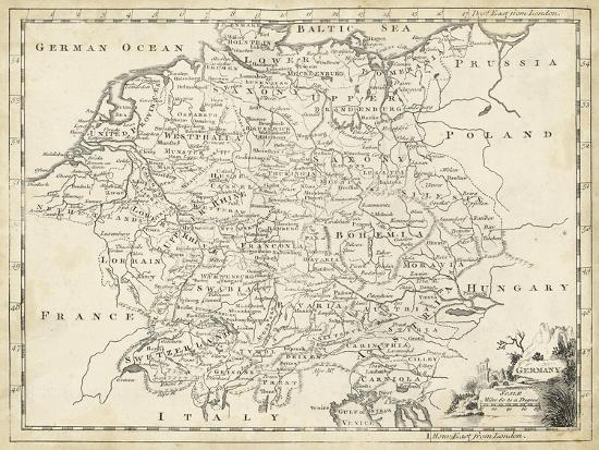 Map Of Germany To Print.Map Of Germany Art Print By T Jeffreys Art Com