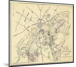 Map of Gettysburg with Troop Positions