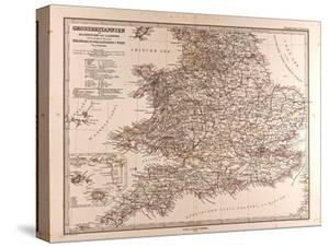Map of Great Britain, 1872