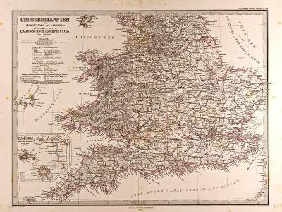 Map of Great Britain, 1872--Giclee Print