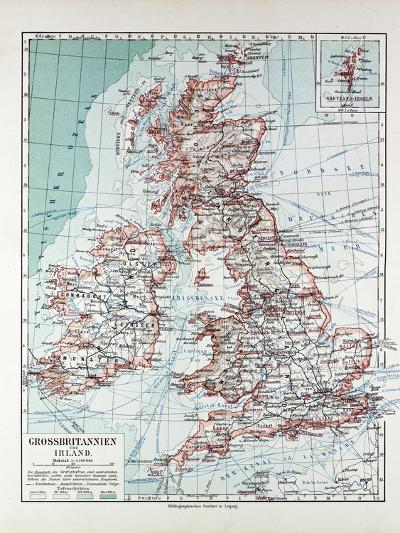 Map of Great Britain and Ireland 1899--Giclee Print
